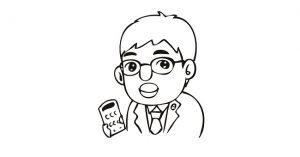 電卓を持つ税理士